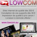 Concéption de site internet et imprimé à prix Lowcost