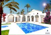 Vente djerba villa avec piscine, vue mer et proche plage