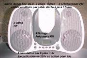 radio FM  stéréo   2 préselections FM DLO Boombox