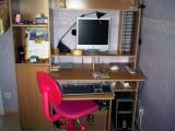 Bureau + chaise + lampe de bureau