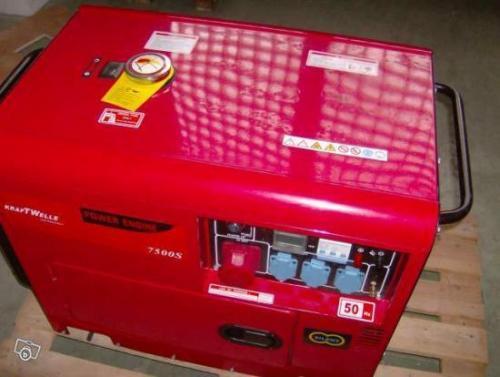 Groupe electrogene diesel 7500s insonorise neuf valenciennes - Petit groupe electrogene silencieux ...